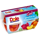 Dole Peaches in Strawberry Gel 4-4.3 oz. Cups 16 oz