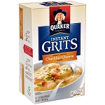 Quaker Instant Grits, Cheddar Cheese, 1 oz Packets, 12 Count