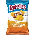 Ruffles Loaded Bacon & Cheddar Potato Skins Potato Chips 8.5 oz. Bag