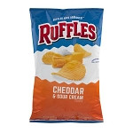 Ruffles Potato Chips Cheddar & Sour Cream, 8.5 OZ