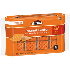 Austin, Sandwich Crackers, Peanut Butter on Cheese Crackers, 8 Ct